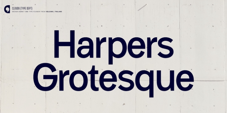 Harpers Grotesque font preview