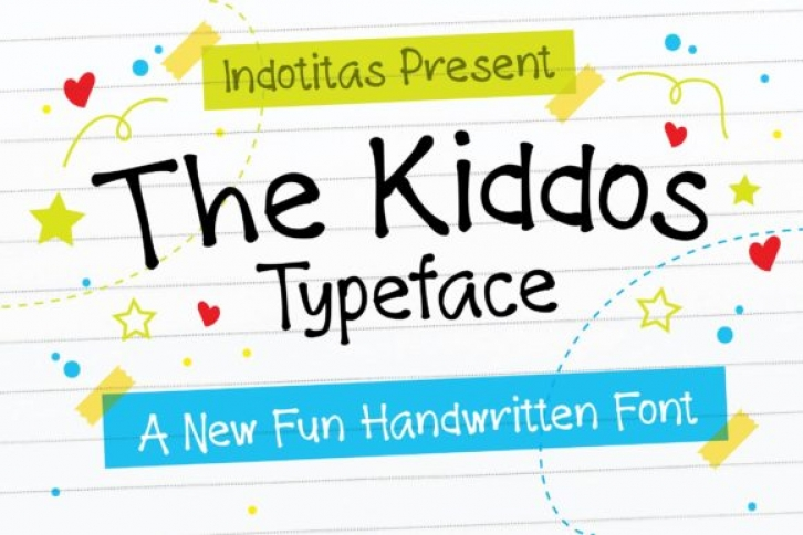 The Kiddos font preview