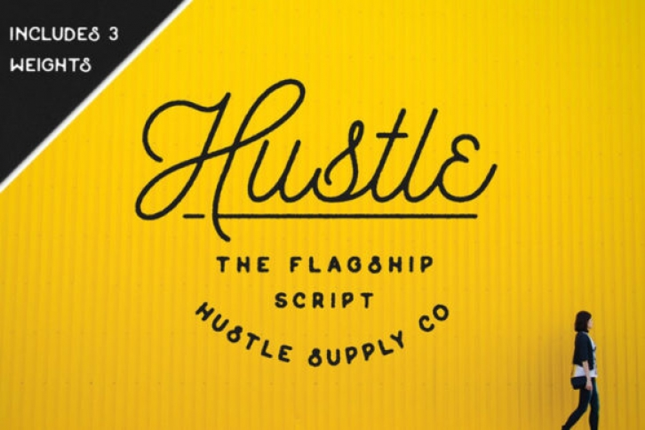 Hustle font preview