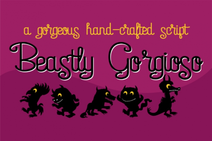 ZP Beastly Gorgioso font preview