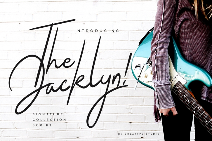 The Jacklyn font preview