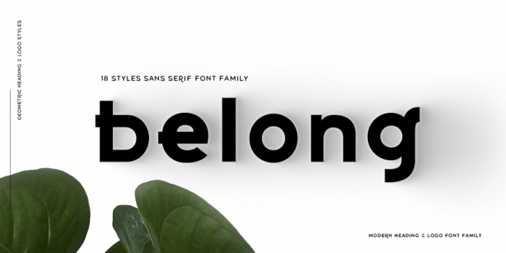 Belong Sans font preview