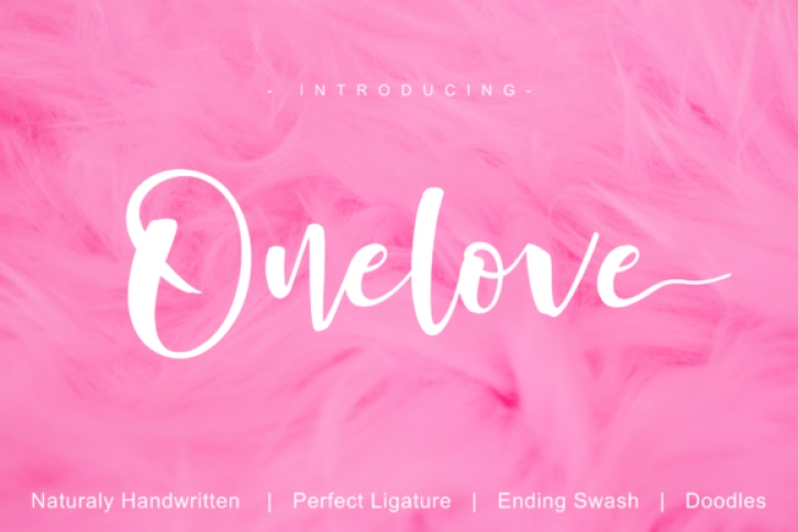 Onelove font preview