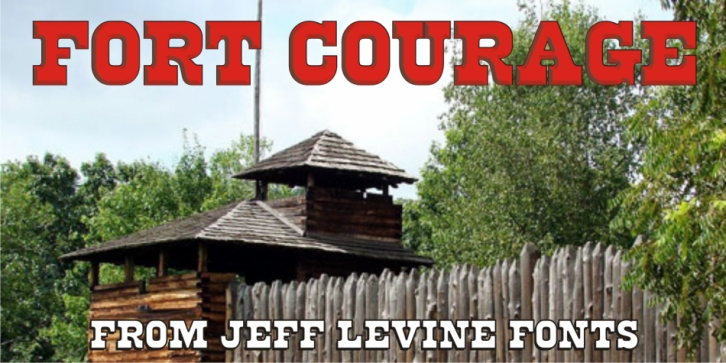 Fort Courage JNL font preview