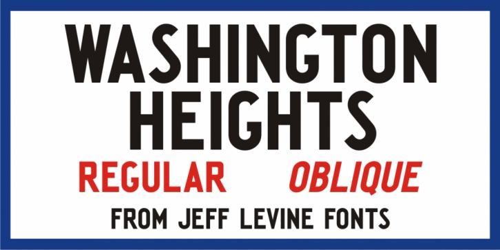 Washington Heights JNL font preview