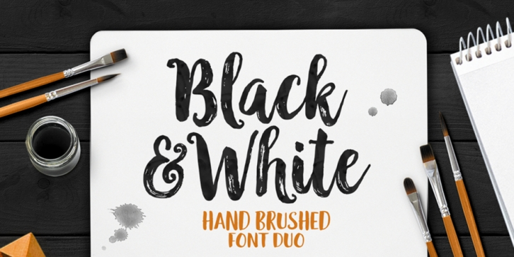 Black and White font preview