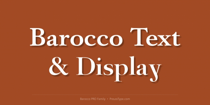 Barocco PRO font preview