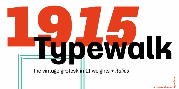 Typewalk 1915 font preview