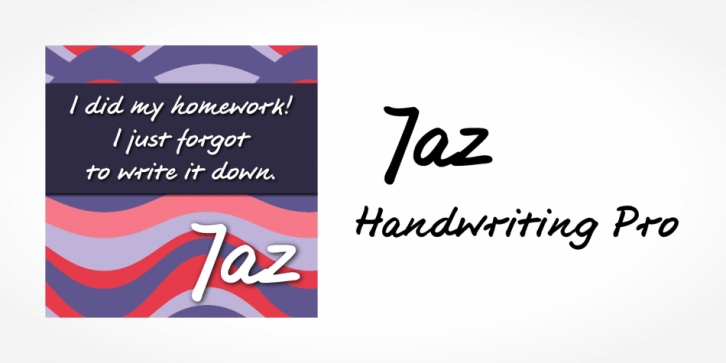 Jaz Handwriting Pro font preview