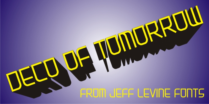 Deco of Tomorrow JNL font preview