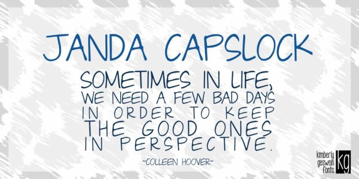 Janda Capslock Font Download