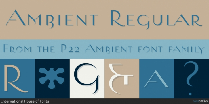 P22 Ambient font preview