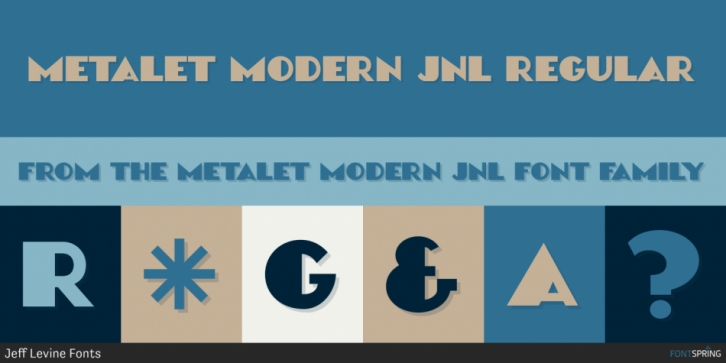 Metalet Modern JNL font preview