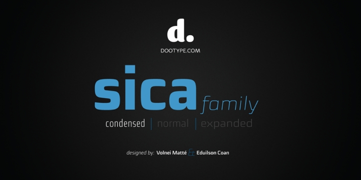 Sica Condensed font preview