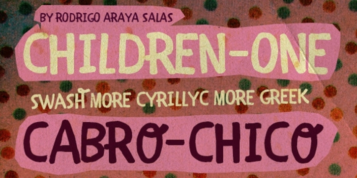 CHILDREN 1 font preview