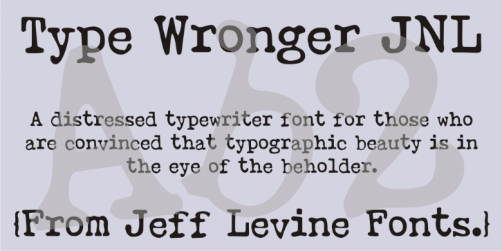 Type Wronger JNL font preview