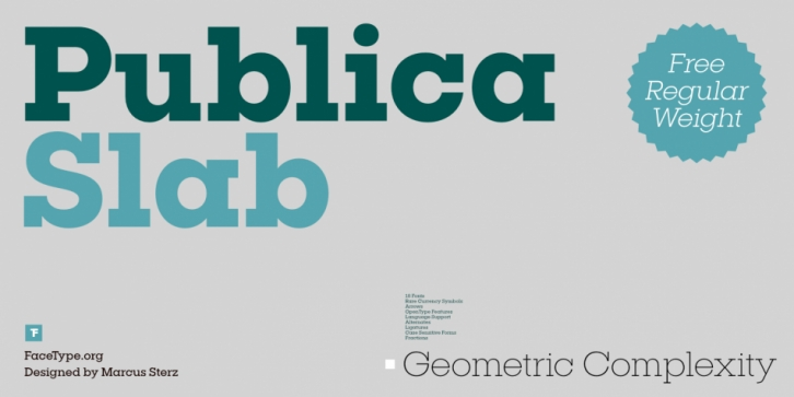 Publica Slab font preview
