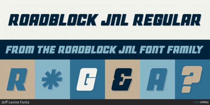Roadblock JNL font preview