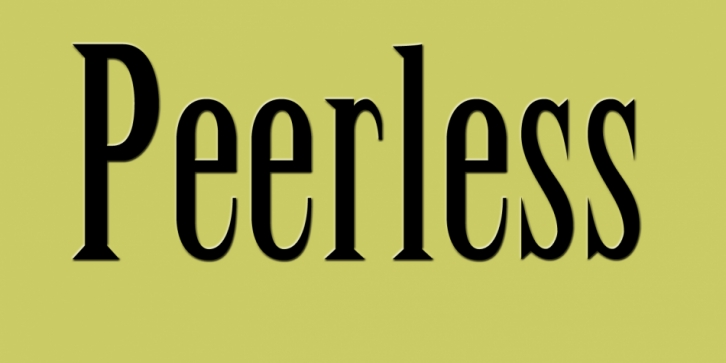 Peerless font preview