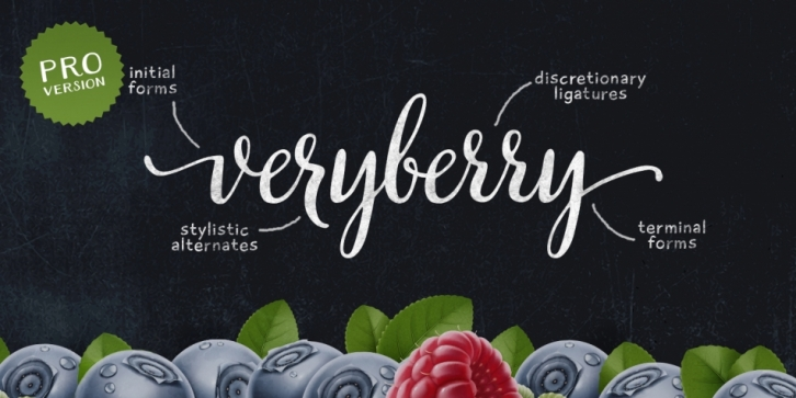 Veryberry Pro font preview