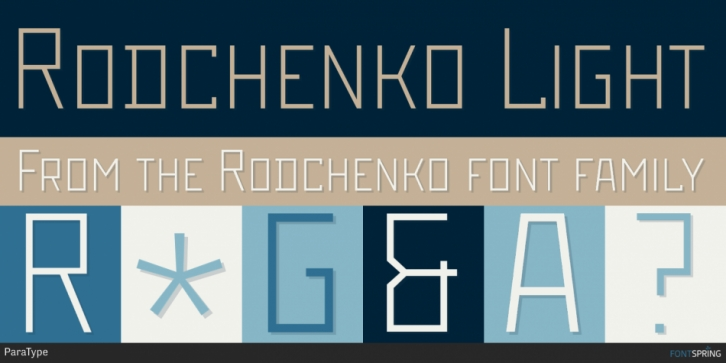 Rodchenko font preview
