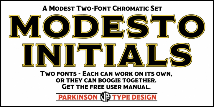 Modesto Initials font preview