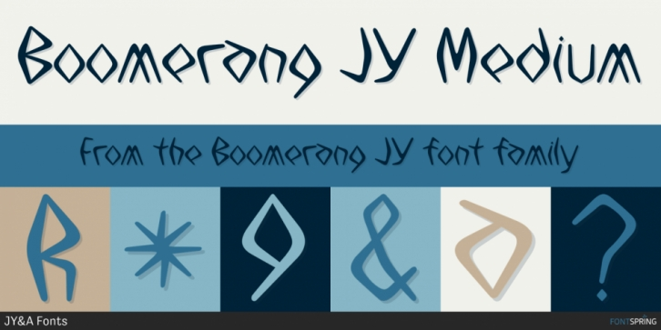 Boomerang JY font preview