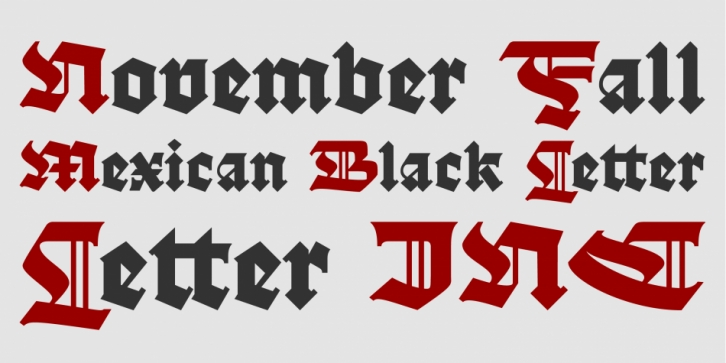 November Fall font preview