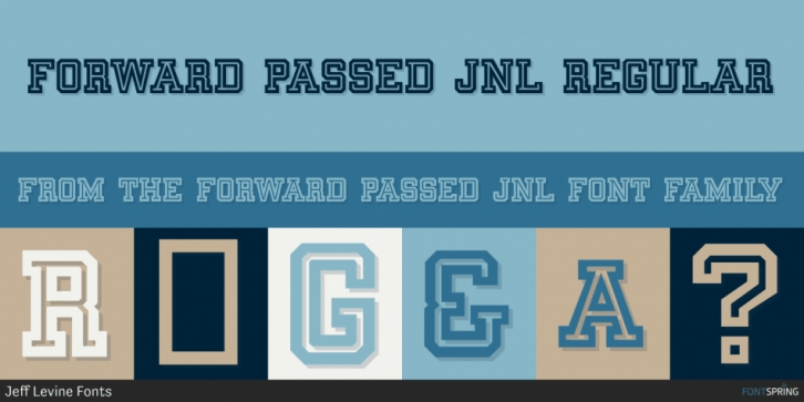 Forward Passed JNL font preview