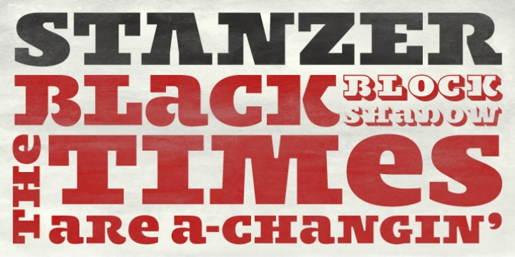 Stanzer font preview