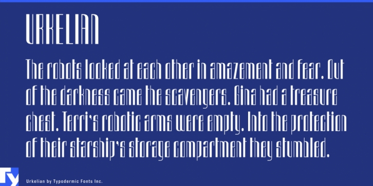 Urkelian font preview