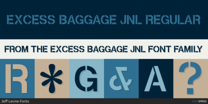 Excess Baggage JNL font preview