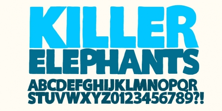 KILLER ELEPHANT font preview