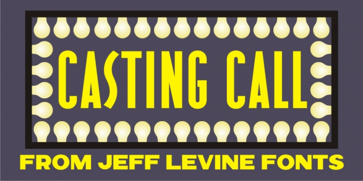 Casting Call JNL font preview