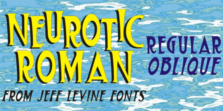 Neurotic Roman JNL font preview