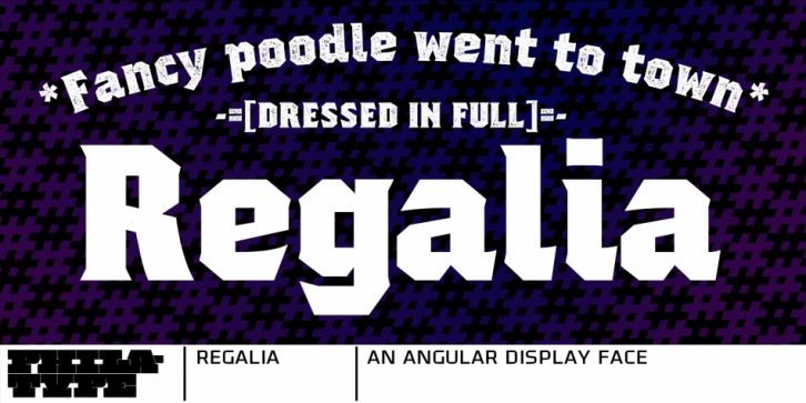 Regalia font preview