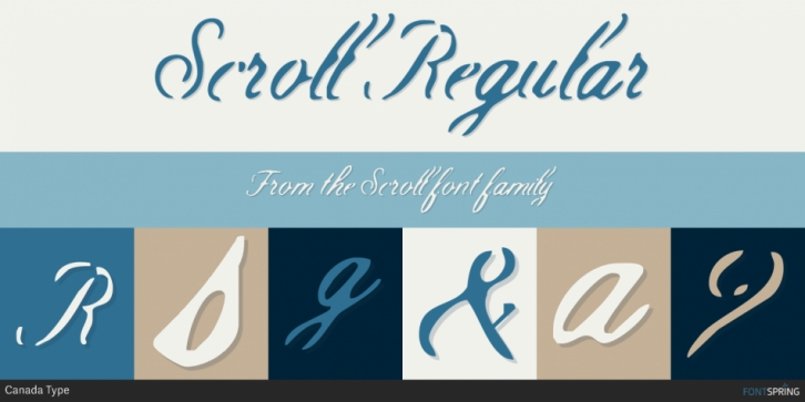 Scroll font preview