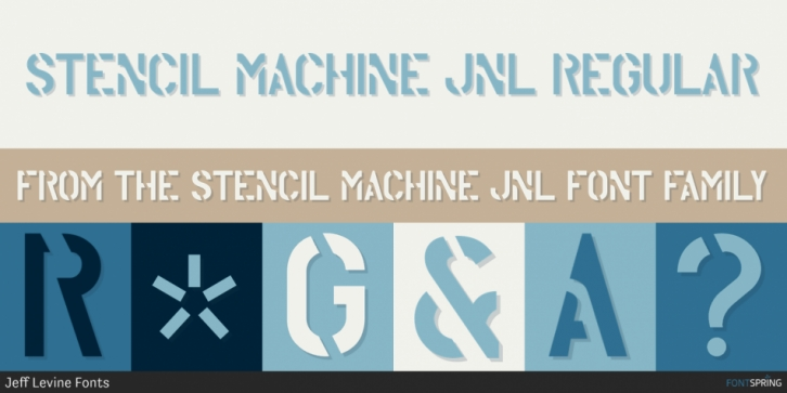 Stencil Machine JNL font preview