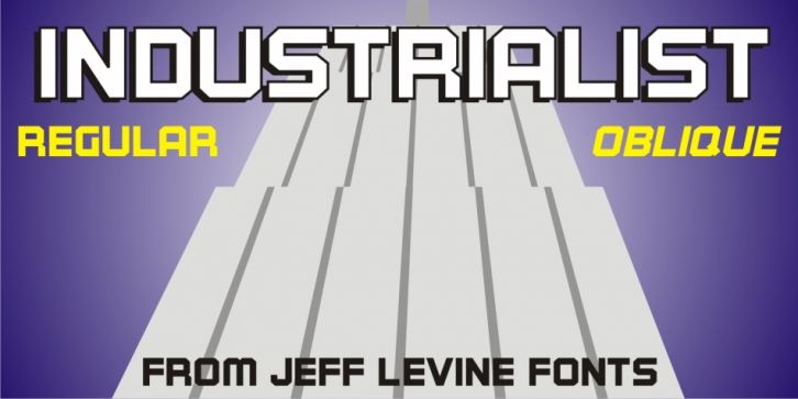 Industrialist JNL font preview