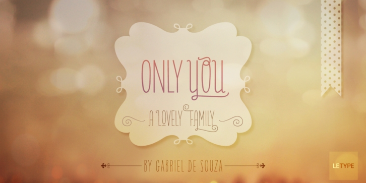Only You Pro font preview