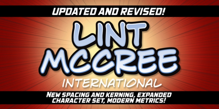 Lint McCree font preview