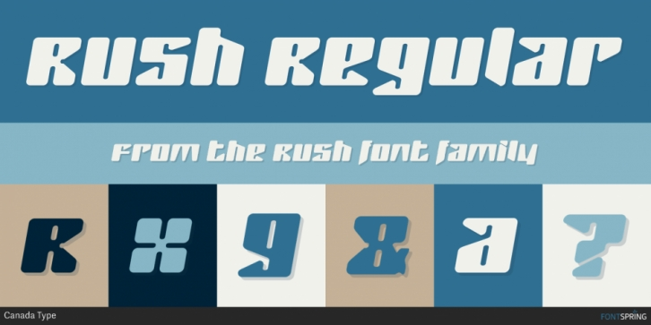 Rush font preview