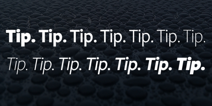 Tip font preview