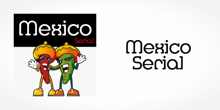 Mexico Serial font preview