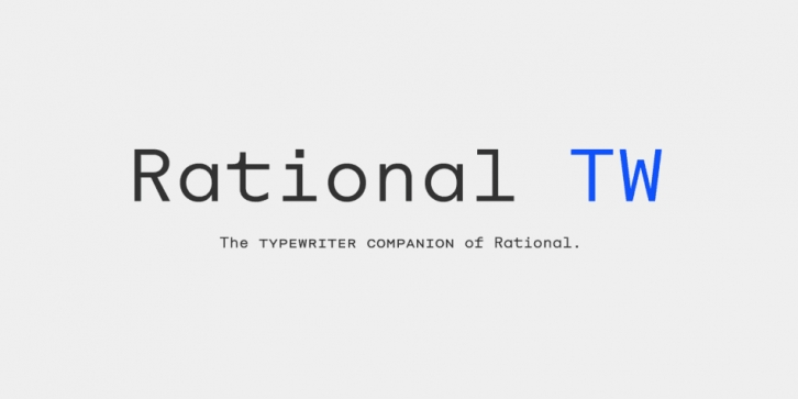 Rational TW font preview